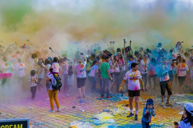 De Kleur stelt Boekarest in werking royalty-vrije stock foto