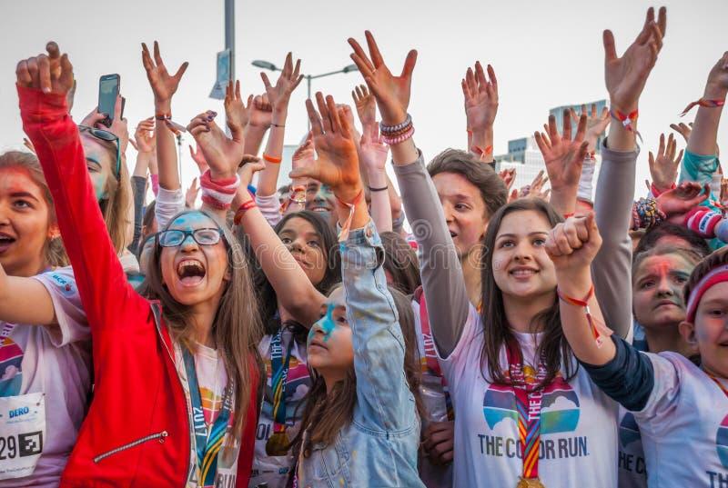 De kleur stelt Boekarest 2017 in werking stock foto