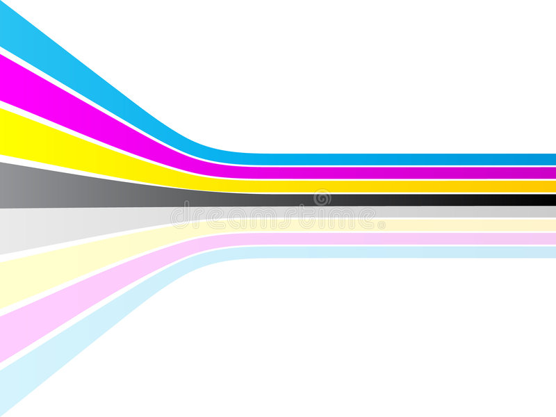 De kleur van Cmyk stock illustratie