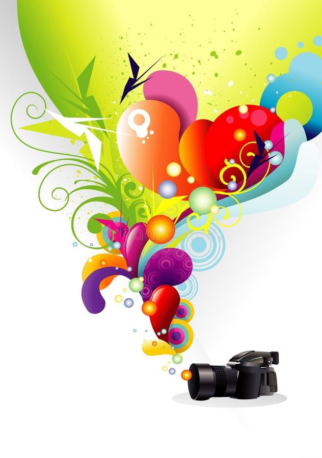De kleur van de camera vector illustratie