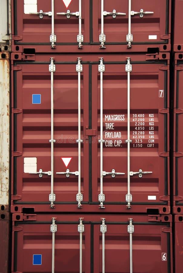 De kleur van de container royalty-vrije stock afbeelding