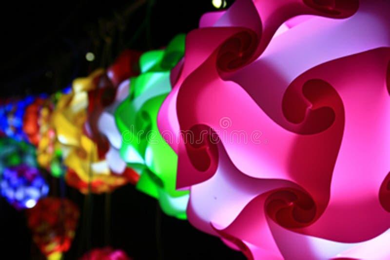 De kleur van de lamp royalty-vrije stock afbeeldingen