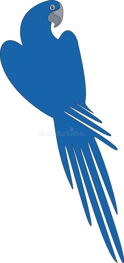De kleur van de papegaai stock illustratie