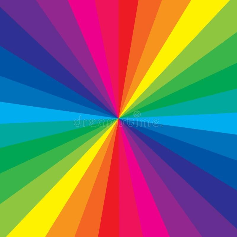De kleur van de regenboog stock illustratie