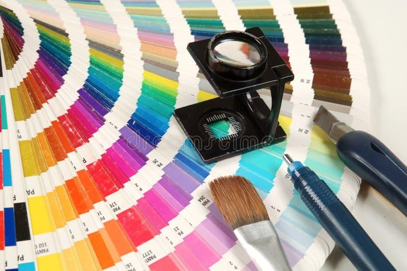 De kleur van de schaal stock foto