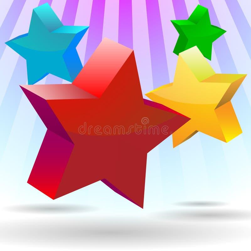 De Kleur van de ster stock illustratie