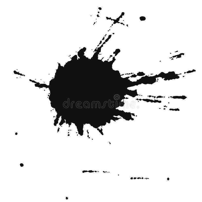 De kleur van de vlek (vector) royalty-vrije illustratie