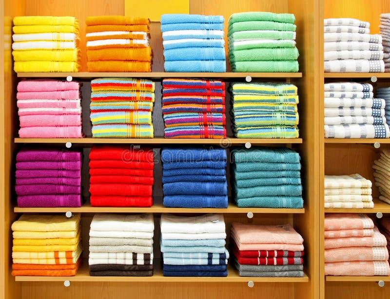 De kleur van handdoeken stock afbeelding