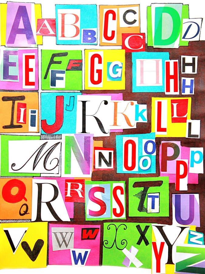 De kleur van het alfabet stock fotografie