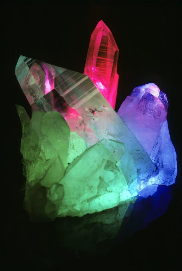 De kleur van het kristal stock afbeeldingen