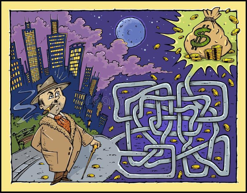 De Kleur van het Labyrint van het geld stock illustratie