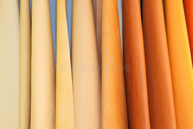 De kleur van het leer stock afbeeldingen