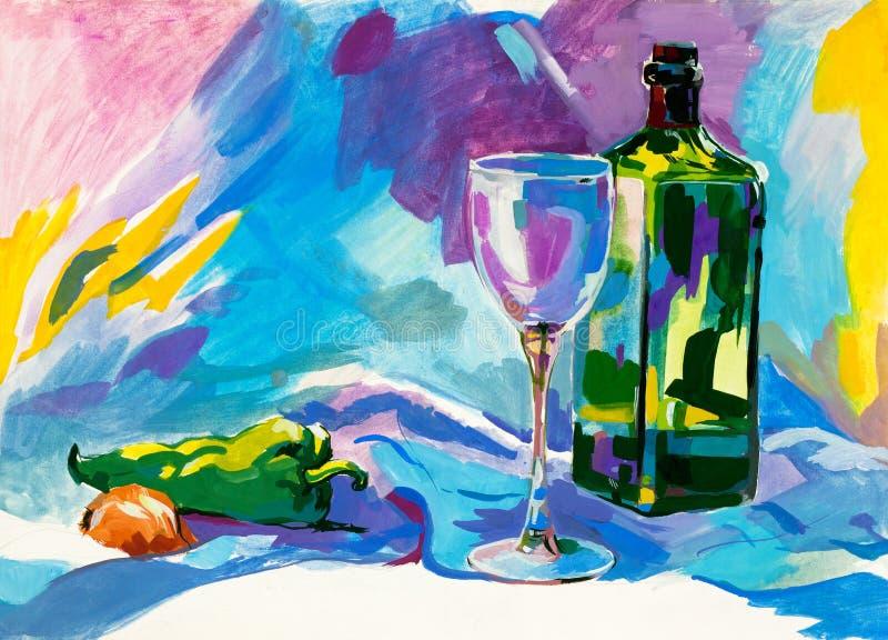 De kleur van het water het schilderen vector illustratie
