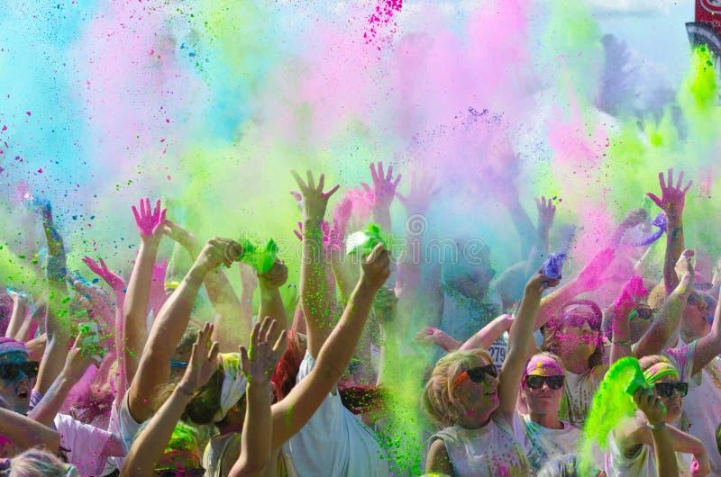 De kleur van Minneapolis die met deelnemers in werking wordt gesteld royalty-vrije stock afbeelding