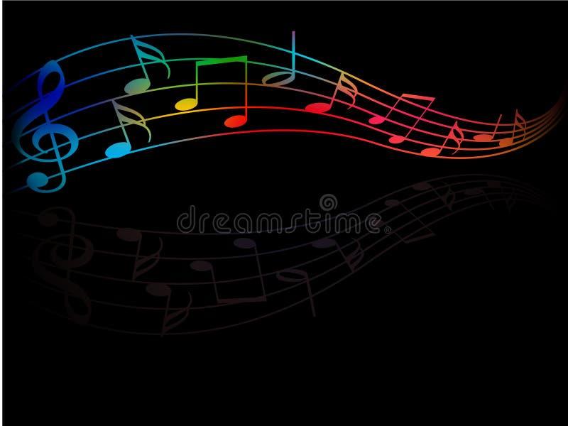 De kleur van muziek vector illustratie