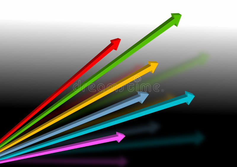 De kleur van pijlen royalty-vrije illustratie
