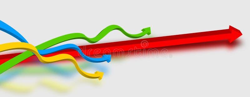 De kleur van pijlen stock illustratie