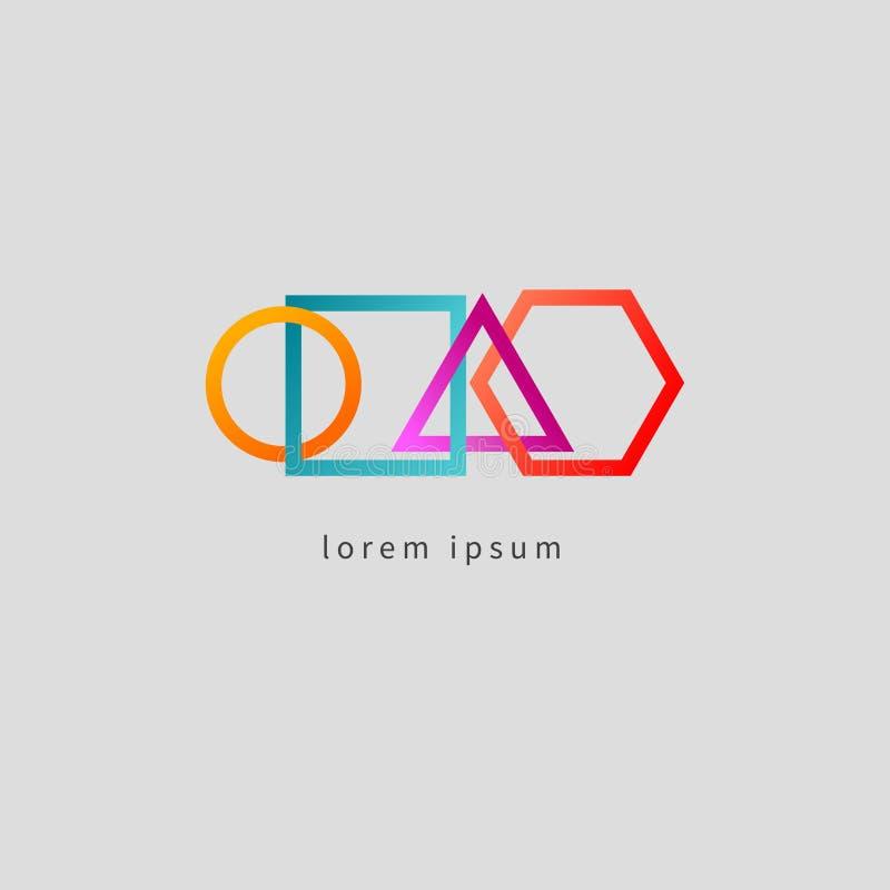 De kleur verbond geometrische vormen vector illustratie