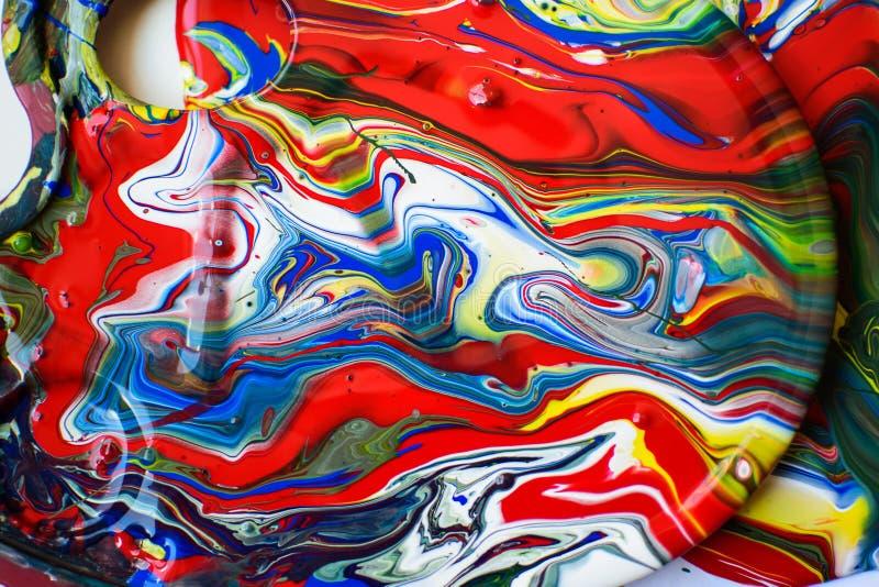 De kleuren morsten een over Palet royalty-vrije stock afbeeldingen