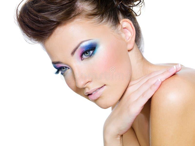 De kleuren van de aantrekkingskracht van oog-merk-omhoog stock afbeelding