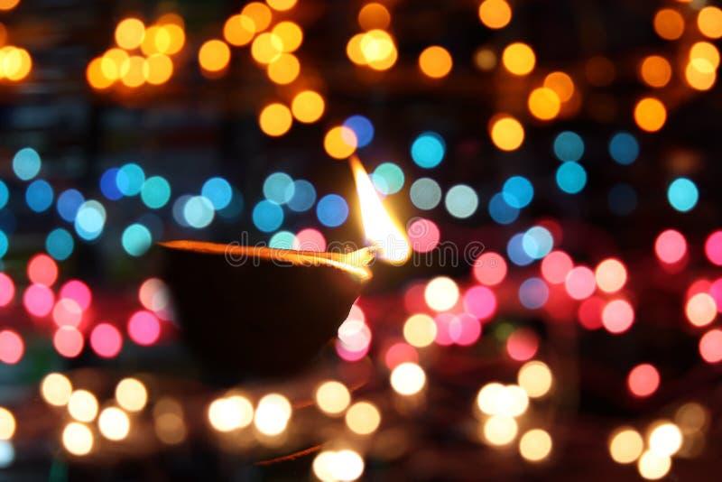 De Kleuren van de Lamp van Diwali stock afbeeldingen