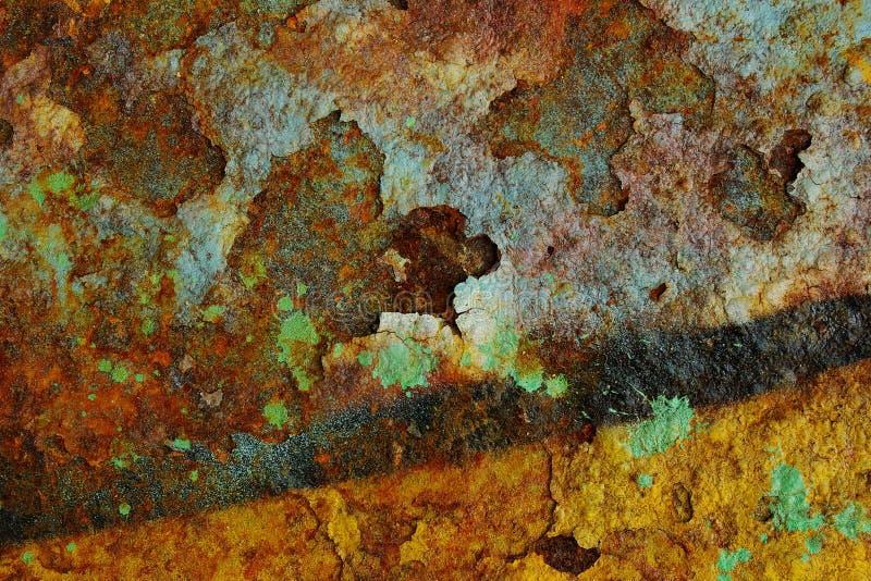 De Kleuren van de roest stock afbeelding