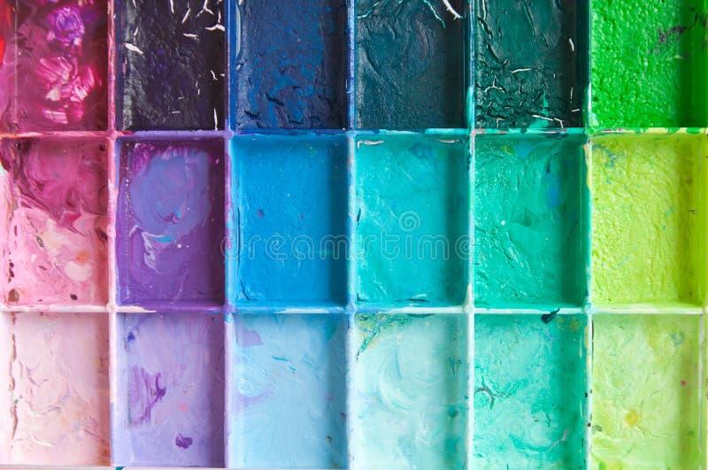De kleuren van de schaduw op palet royalty-vrije stock fotografie