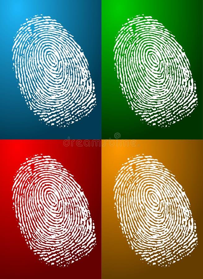De Kleuren van de vingerafdruk stock illustratie