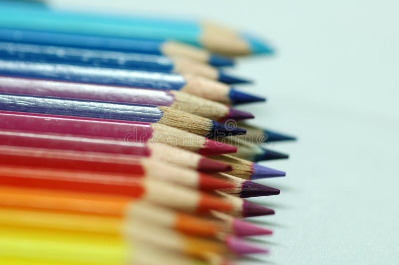 Potloodkleuren stock afbeeldingen
