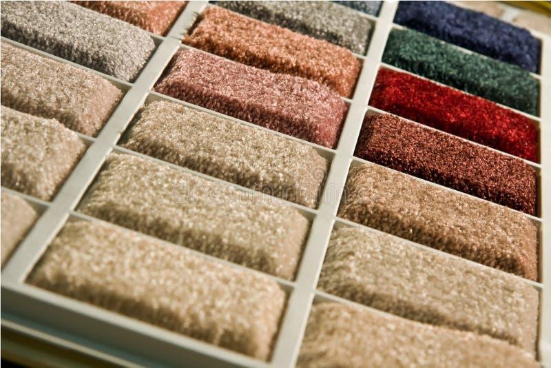 De kleuren van het tapijt royalty-vrije stock afbeeldingen