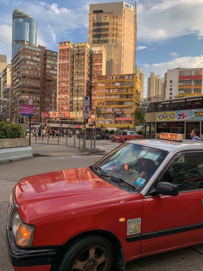 De kleuren van Hongkong stock afbeeldingen