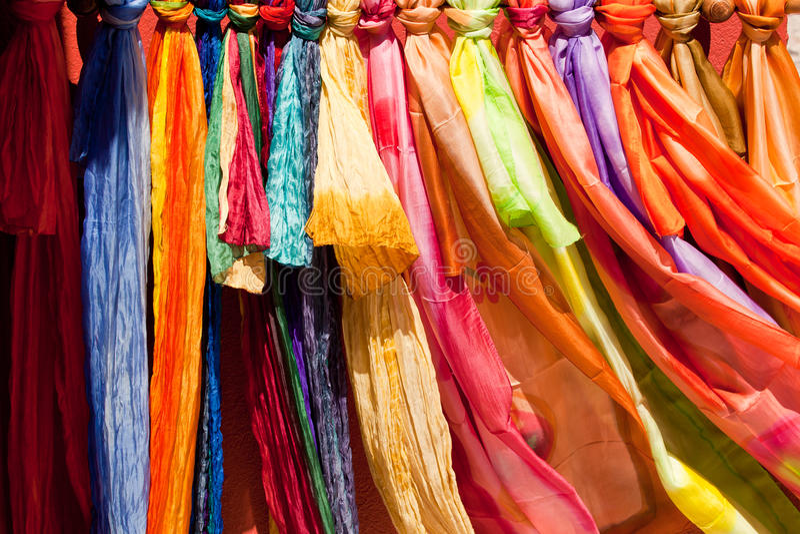 De kleuren van Santorini stock fotografie