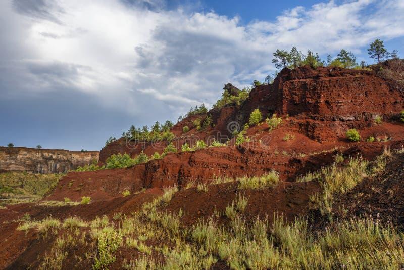 De kleuren van uitgestorven vulcano van Racos royalty-vrije stock foto