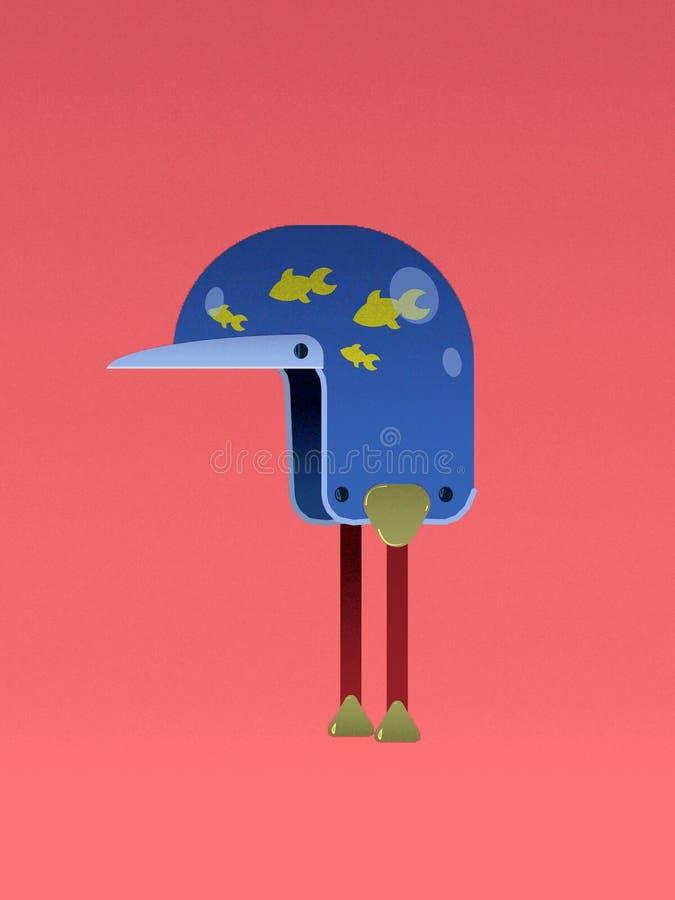 de kleuren vectorblauw van helmvispa stock foto
