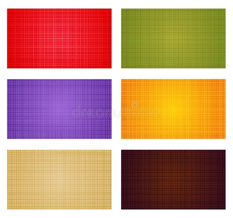 De kleurenachtergronden van de herfst royalty-vrije illustratie