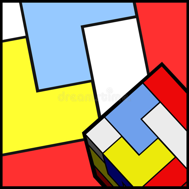 De kleurenbehang van de kunst royalty-vrije illustratie