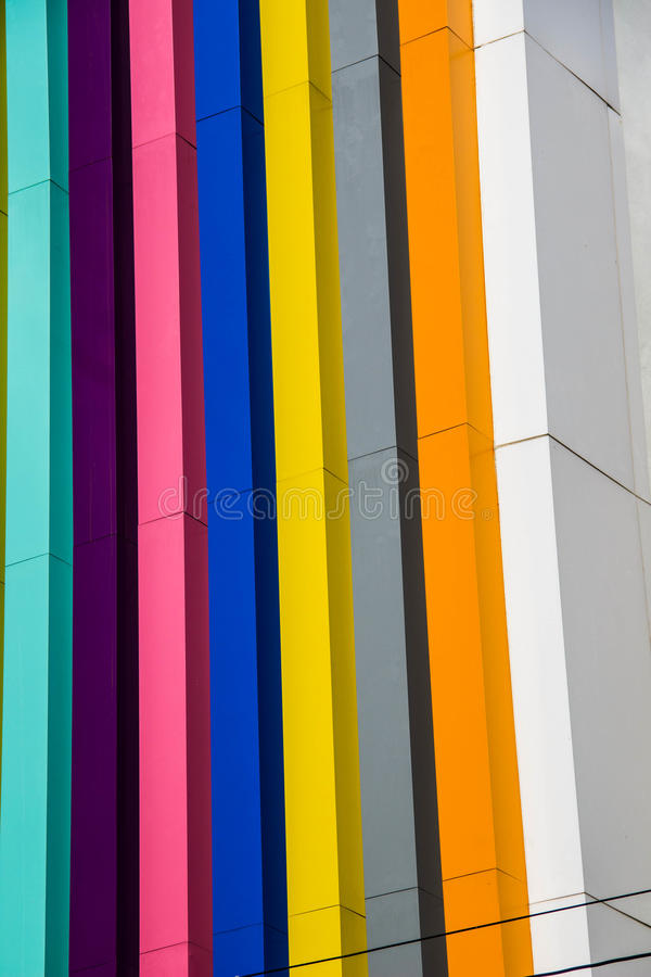 De kleurenbouw stock afbeelding