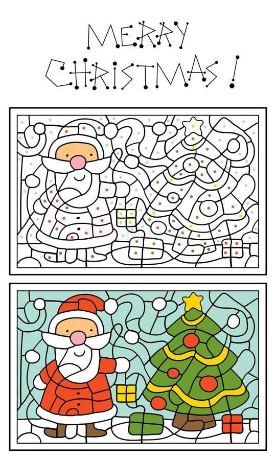 De kleurende pagina van Kerstmis stock illustratie
