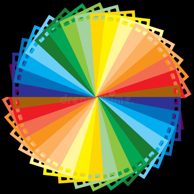 De kleurenfilm van de regenboog vector illustratie