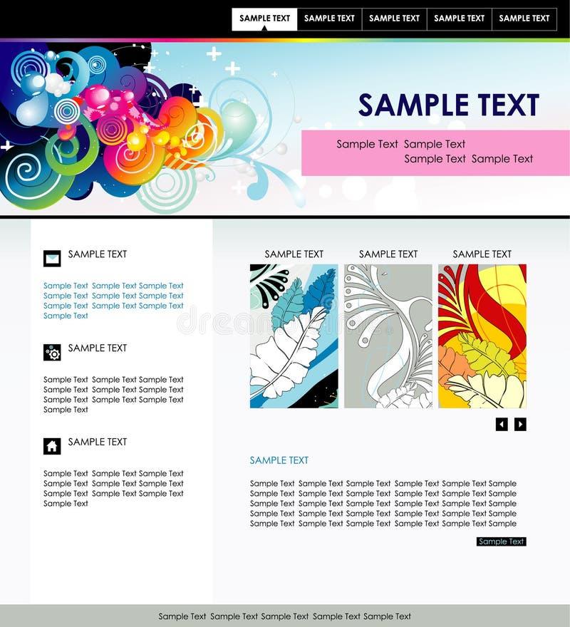 De kleurenmalplaatje van de website vector illustratie