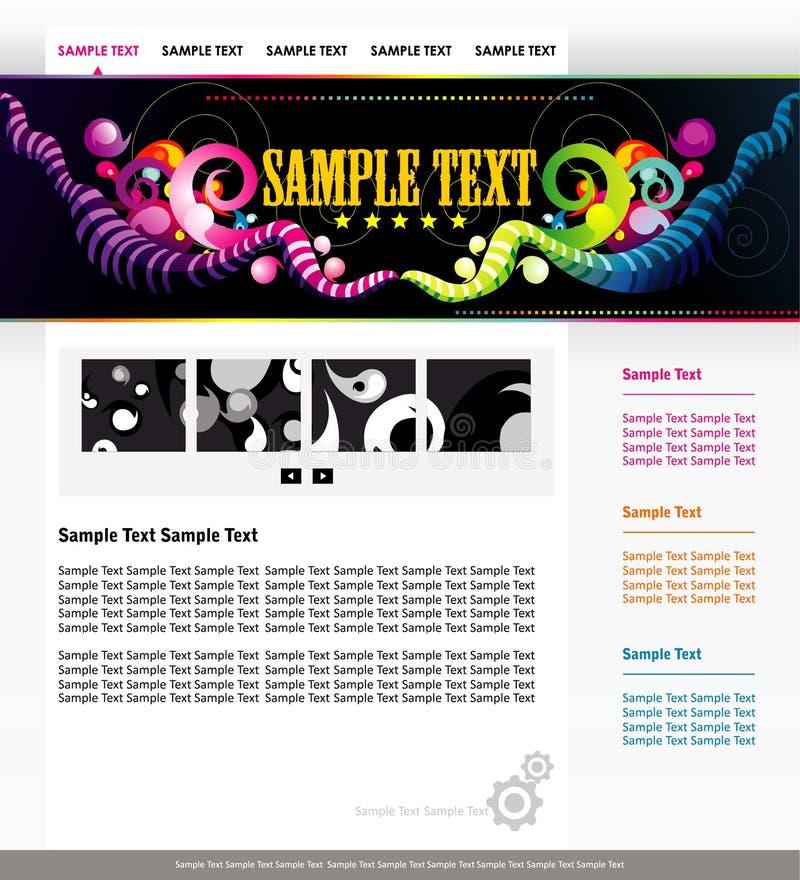 De kleurenmalplaatje van de website stock illustratie