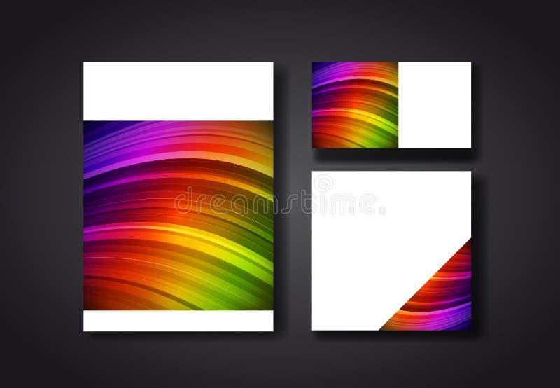 De kleurenmalplaatjes van het dekkingsontwerp stock illustratie