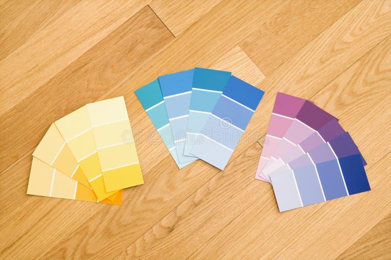 De kleurenmonsters van de verf. stock foto's