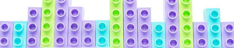 De kleurenontwerper van kinderen Banner voor de plaats Het concept kinderjaren, hobbys, achtergronden stock foto's