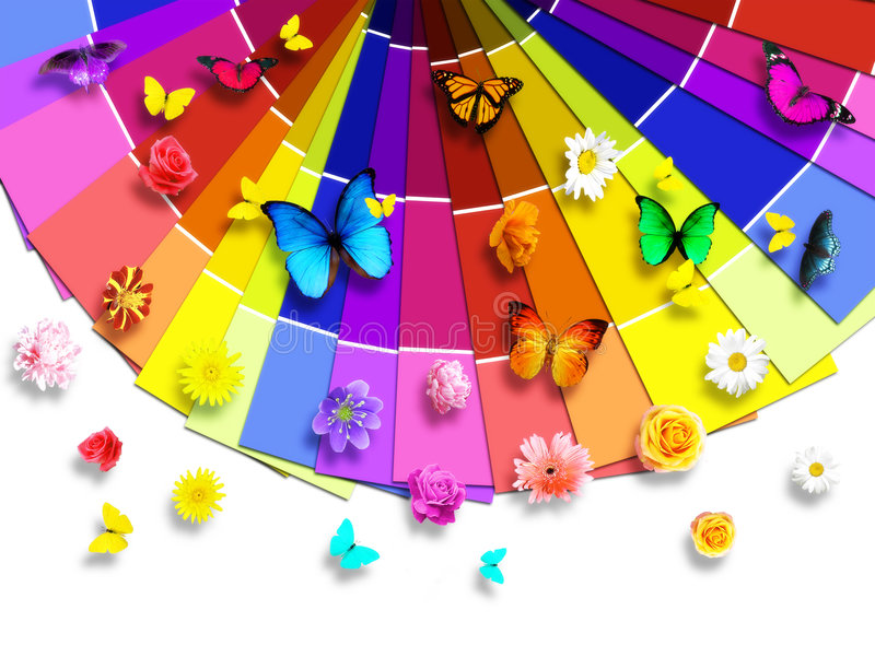 De kleurenpalet van de aard royalty-vrije illustratie