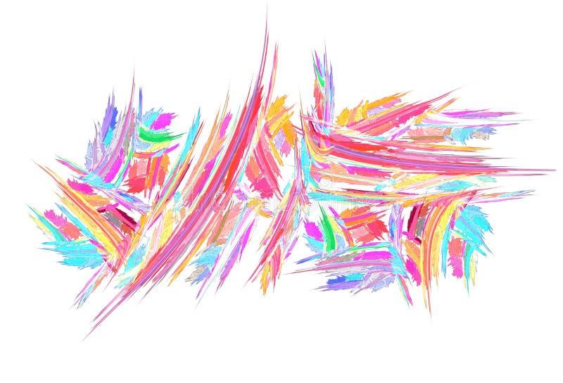 De kleurenpastelkleur schiet Rechthoeksamenvatting weg stock illustratie