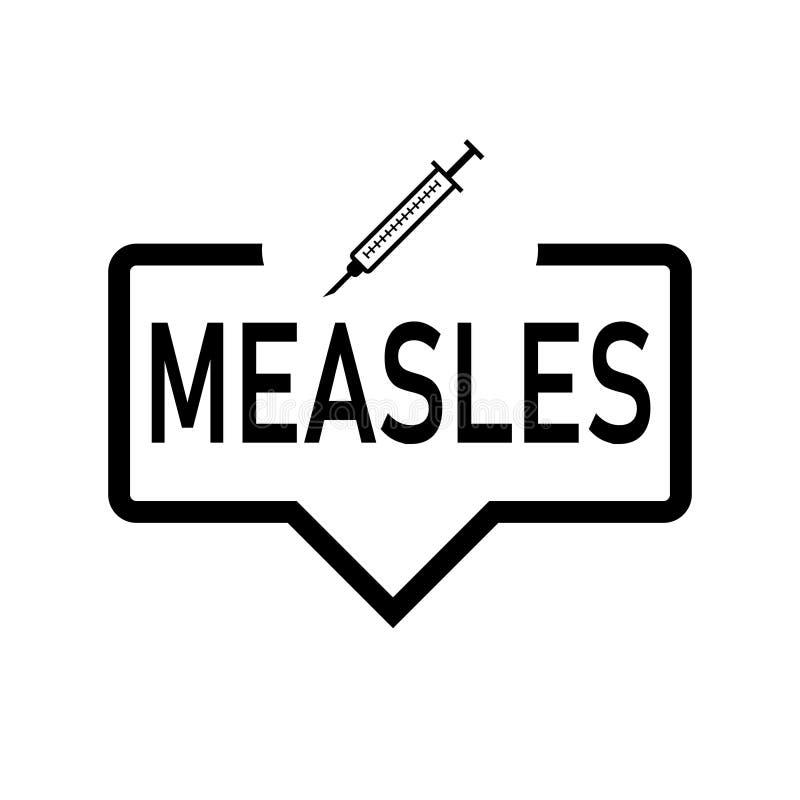 De kleurenpictogram van het mazelenvaccin Spuit met geneeskundeflesje Tetanus, BCG-immunisering, inenting r vector illustratie