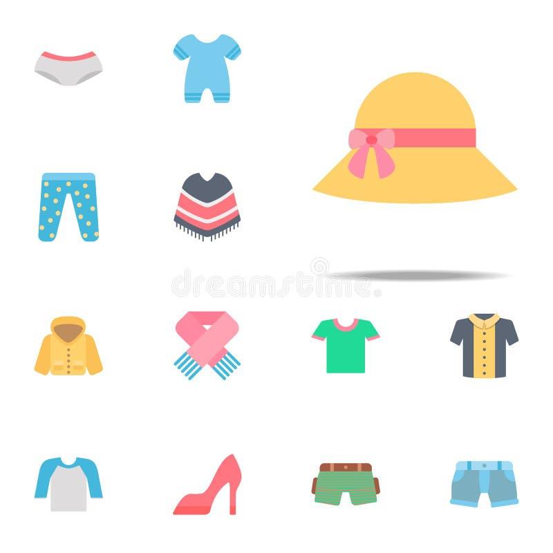 De kleurenpictogram van Pamela Voor Web wordt geplaatst dat en het mobiele algemene begrip van klerenpictogrammen vector illustratie