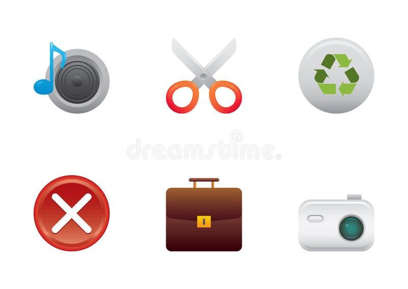De kleurenreeks 4 van pictogrammen royalty-vrije illustratie