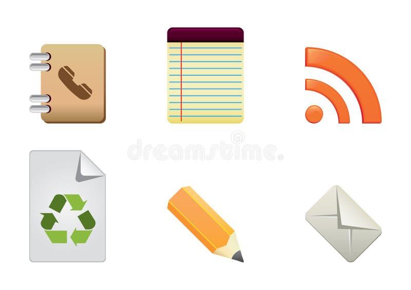 De kleurenreeks 5 van pictogrammen royalty-vrije illustratie